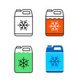 car coolant canister icon motor antifreeze vector image