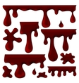 chocolate blots splashes and smudges vector image vector image