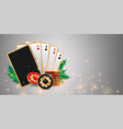 christmas casino banner vector image vector image