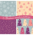 Christmas patterns collection 1 vector image