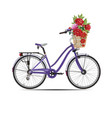 city bike in flat style vector image