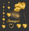 classic elegant set of gold elements for design vector image vector image