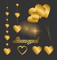 classic elegant set of gold elements for design vector image