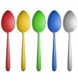 Color spoons vector image vector image
