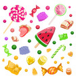 colorful background with candies caramel vector image