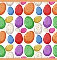colourful dinosaur egg seamless vector image