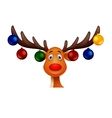 Cute Deer with christmast ball vector image