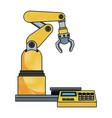 digital controller for robot in factory smart vector image vector image