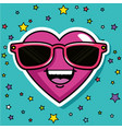 fashion love badges vector image vector image