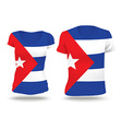 Flag shirt design of Cuba vector image vector image