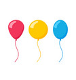 flat balloon birthday icon vector image