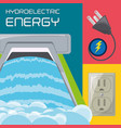 flat concept hydroelectry plant generator energy vector image vector image