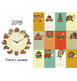 funny turtles calendar 2018 design vector image vector image