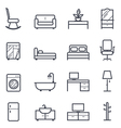Furniture Icon Bold Stroke vector image vector image