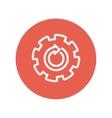 Gear wheel with arrow thin line icon vector image vector image