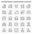 geotechnical engineering icon vector image vector image