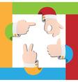 gestures set vector image vector image
