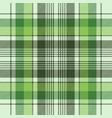 green ireland check plaid fabric seamless pattern vector image vector image