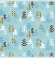 hand drawn christmas tree seamless naive pattern vector image vector image