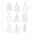 Handdrawn Christmas Trees vector image