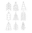 Handdrawn Christmas Trees vector image vector image
