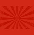 horizontal retro sunburst vector image vector image
