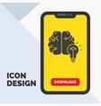 idea business brain mind bulb glyph icon in vector image