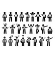 industrial workers feelings emotions and actions vector image