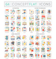 infographics concept icons of 3d printing future vector image vector image