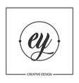 initial letter ey logo template design vector image