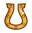 iron horsehoe cartoon vector image vector image