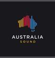 island australia sound beat logo icon template vector image vector image