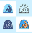 isolation concept icon set in flat and line styles vector image