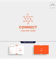 lens hexagon technology logo design camera vector image vector image