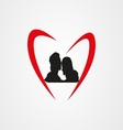 Love logo eps vector image