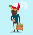 man with suitcase full of money flat vector image
