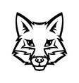 mascot stylized fox head vector image