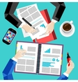 Modern business office and workspace background vector image vector image