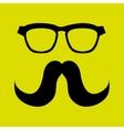 mustache and glasses icon design vector image