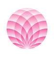 pink lotus circle - symbol of yoga wellness vector image vector image