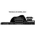 republic of korea jeju architecture city vector image