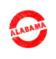 rubber ink stamp alabama vector image vector image