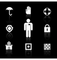 Safety and insurance symbols vector image