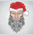 santa claus christmas beard barber man artwork vector image