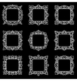 Set of 9 square frames vector image vector image