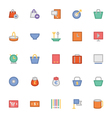 Shopping Icons 7 vector image vector image