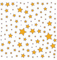 simple pattern with yellow stars on a white vector image vector image