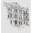sketch drawing of Kiev historical building Ukraine vector image