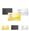 Smooth swoosh wave line premium membership card vector image vector image