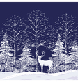 snowy forest vector image